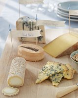 Spring cheese platter