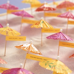 Summer parasol seating cards