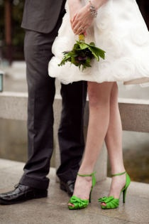 Colourful Bridal Shoes Weddingstory