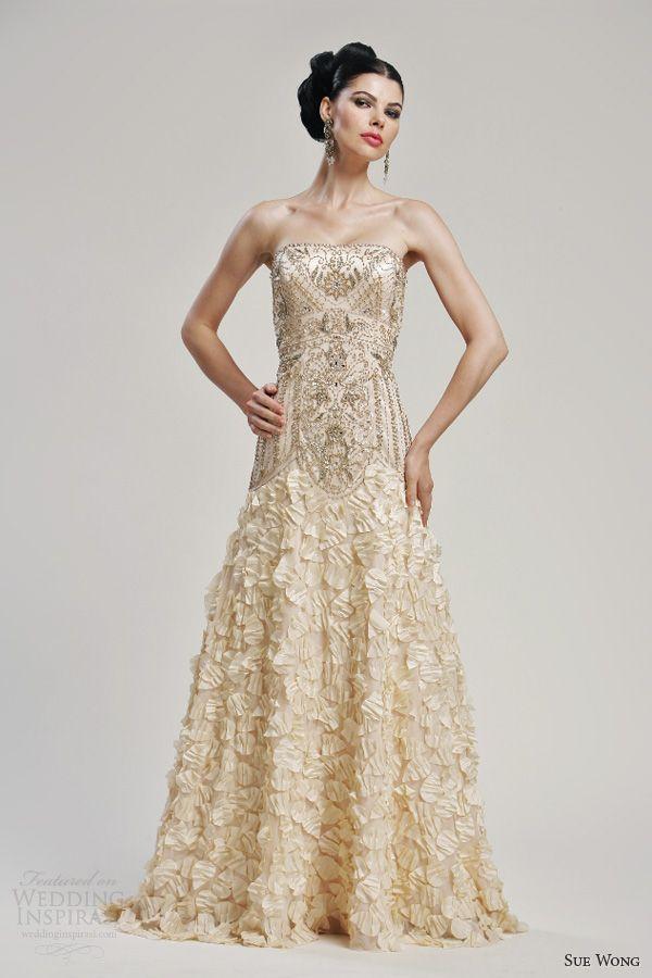 Gold Wedding Dresses | Weddingstory