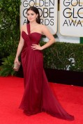 Ariel Winter wore a Mikael D gown with Jimmy Choo clutch
