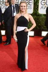 Hayden Panettiere wore a gown by Tom Ford