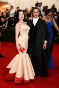 Dita Von Teese in Zac Posen with Zac Posen