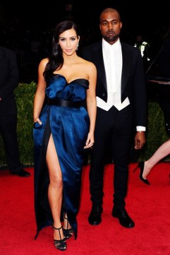 Kim Kardashian and Kanye West in Lanvin