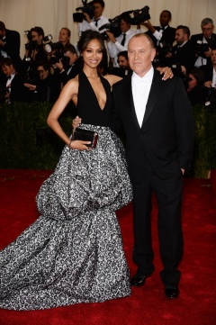 Zoe Saldana in Michael Kors with Michael Kors