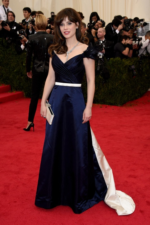 Zoey Deschanel in Tommy Hilfiger